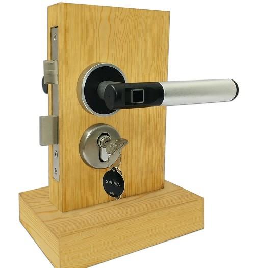 deurkruk met vingerscan-vingerscan-biometrisch-smartlock-vingerafdruk-slimme sloten-slot-dlocks